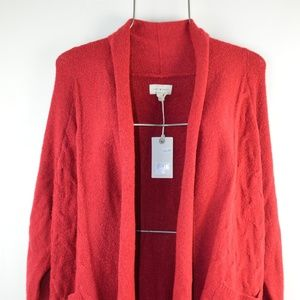 Lucky Brand Red Side Pocket Cardigan Wrap